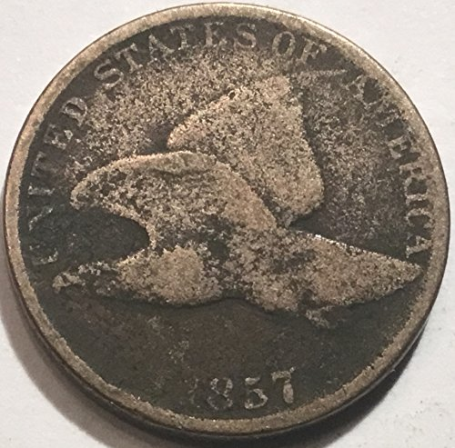 - 1857 Flying Eagle Cent Penny Good Detials