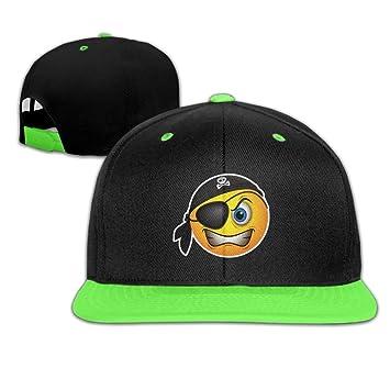 Smile Pirate Skull Adjustable Kids Snapback Hip Hop Flat Brim Cap Trucker  Cool Baseball Hat For e6620d8080e9