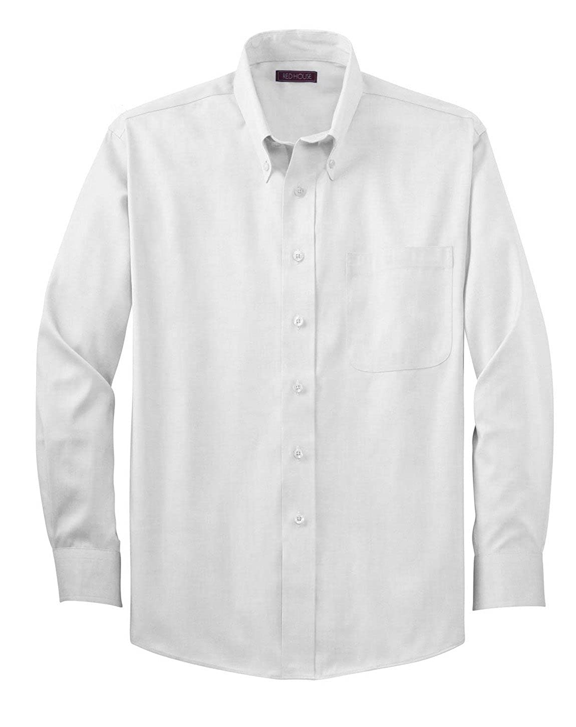 40b2cb48ced Red House RH24 Non-Iron Pinpoint Oxford. - White - L at Amazon Men s  Clothing store  Dress Shirts