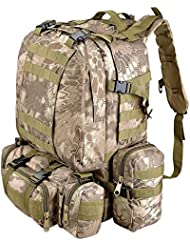 AW Wild Pythons Grain Waterproof Camping Bag 23x19x5.5 Backpack For Travel Hike Camp Climb Military Tactical