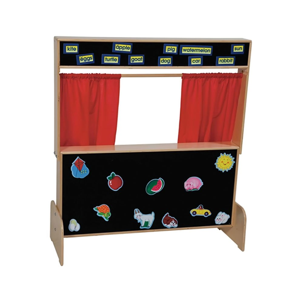 Wood Designs WD21652 Deluxe Puppet Theater with Flannel Board, 48 x 47 x 6'' (H x W x D)