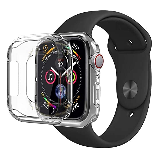 PTTECH Case for Smart Watch 42mm, iWatch Slim Clear TPU Soft Screen Protector Case Lightweight Protective Bumper Cover Compatible for Apple Watch ...