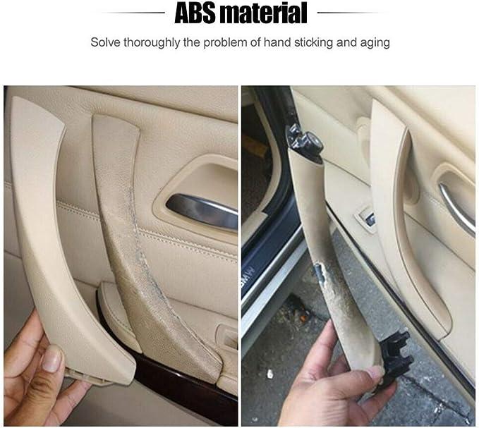 MASO Car Interior Door Handle Inner Door Handles Trim Pull Cover 51419150336 Left Side Gray