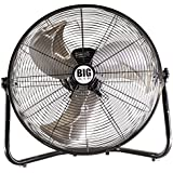 New 20 Floor Fan Portable Tilt High Velocity Air Mover 3 Speeds Stand Commercial Industrial Warehouse Shop Garage Versatile Fan Heavy Duty