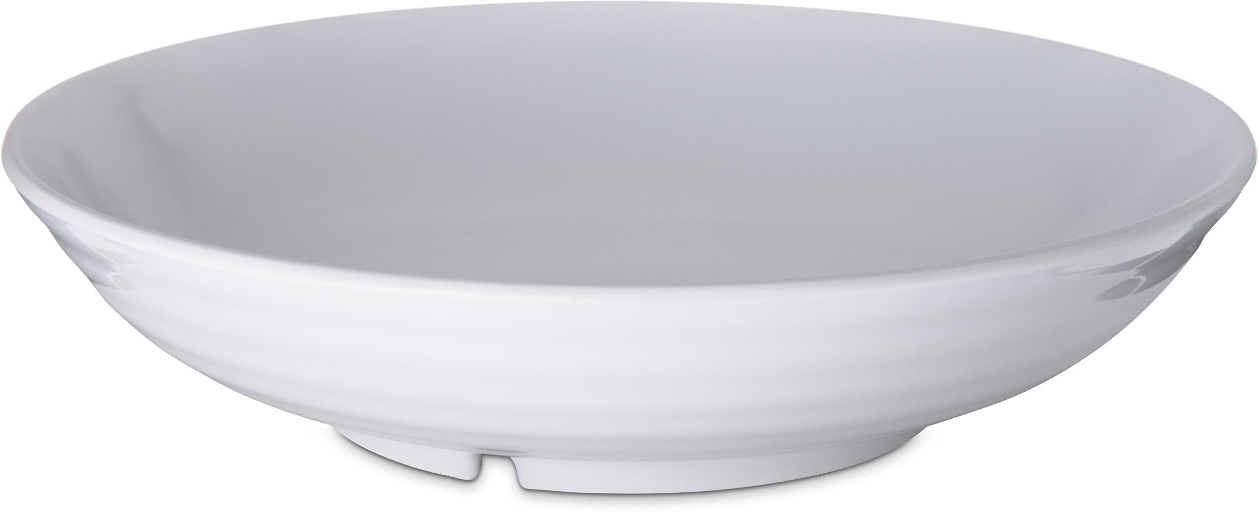 Carlisle 791002 Designer Displayware Melamine Pasta Bowl, 5 lbs Capacity, 10-1/2'' Diameter x 2-1/2'' Height, White (Case of 4)