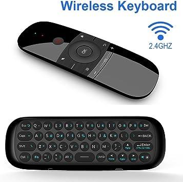 AM-07 Mini Teclado Inalámbrico Mando a Distancia Air/Fly Mouse Mando 2.4G Inalámbrico con Nano USB Receptor Android TV Box HTPC PC IPTV: Amazon.es: Electrónica