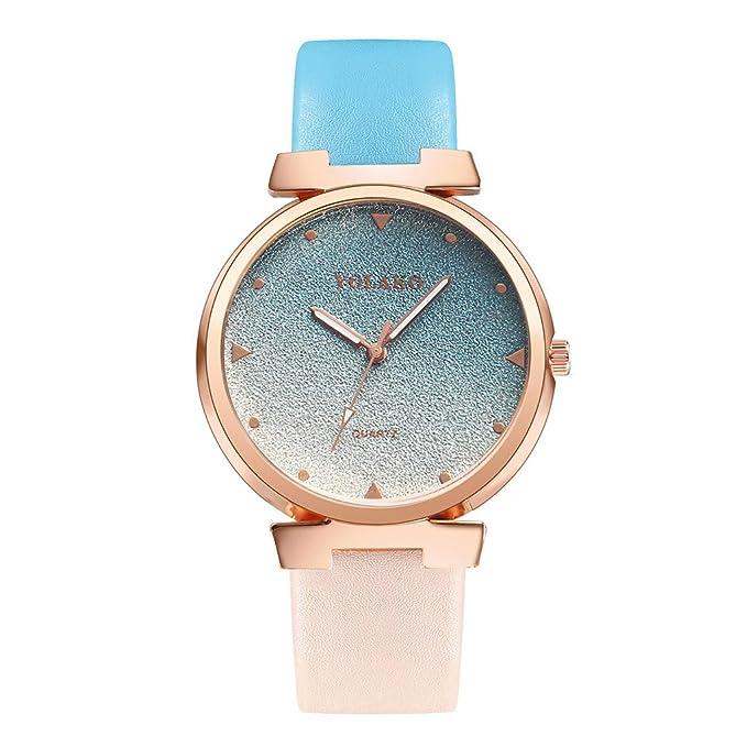 Amazon.com: Reloj de pulsera analógico para mujer con correa ...