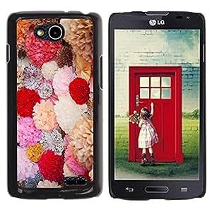 Be Good Phone Accessory // Dura Cáscara cubierta Protectora Caso Carcasa Funda de Protección para LG OPTIMUS L90 / D415 // Spring Flowers Bouquet Field Valentines