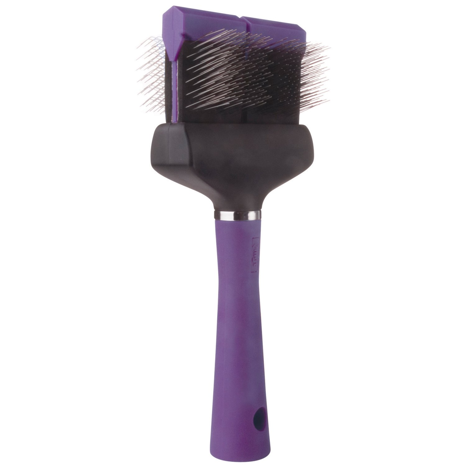 Master Grooming Tools Double-Sided Soft Flexible Slicker Brushes - Versatile Brushes for Grooming Dogs - Purple, 8''L x 4''W