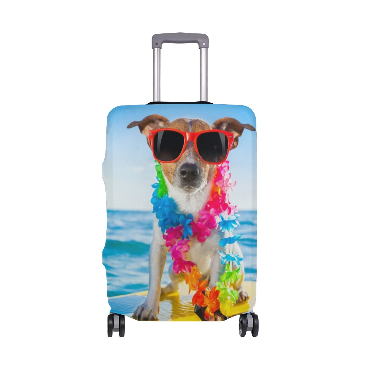 MyDaily Funny Surfing Dog Luggage Cover Fits 18-22 inch Suitcase Spandex Travel Protector S