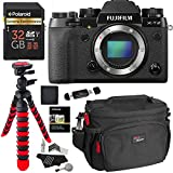 Fujifilm X-T2 Mirrorless Digital Camera Body Only, Polaroid Extreme Performance 32GB, RitzGear Bag, Tripod, Cleaning Kit and Accessory Bundle