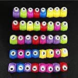 WorldoorMini Paper Craft Punch Card Scrapbooking Engraving Kid Cut DIY Handmade Hole Puncher for Festival Papers and Greeting Card with Random Colors and Random Cutting Shape,Set of 40