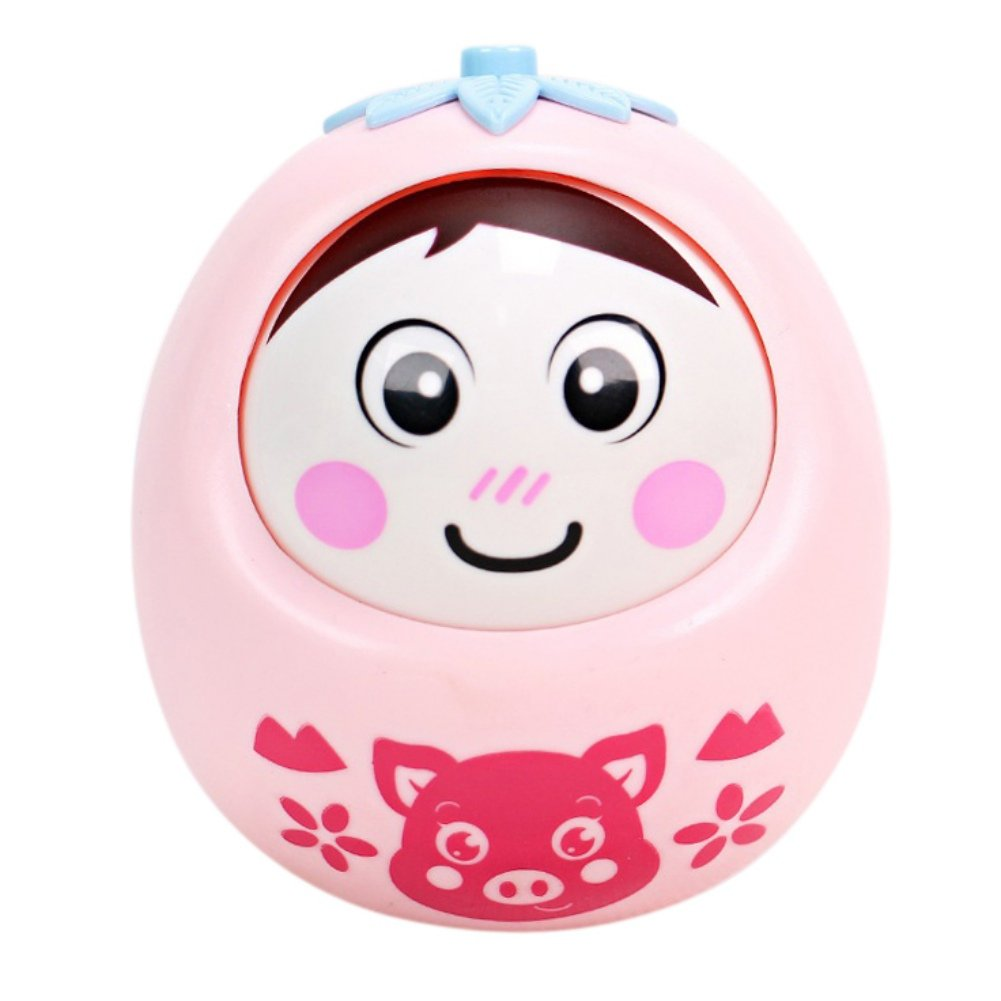 novobeyクリエイティブRoly - Poly Tumbler Baby Toyキュートウィンクタンブラー人形新生児Teether Bell Rattles Toys Novbe-T-0161  Pink-pig Print B07F28JG7V