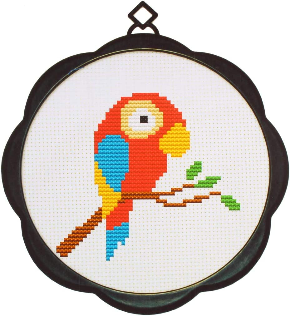 Parrot Andux Land Mini Counted Cross Stitch Kit for Beginners Kids Adults with Cute Pattern SGCX-01
