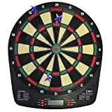 ZAAP Battery Powered Electronic Dart Board Soft Tip Dartboard with 32 Games and 6 Darts