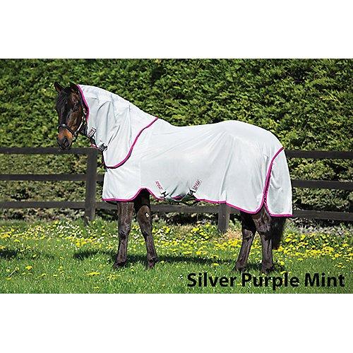 Amigo Bug Rug Fly Sheet 84 Silver/Purple/Mint