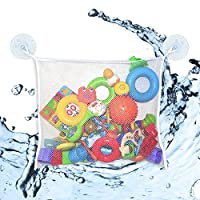 Mesh Bag Bath Toy Organizer by MintPear, Extra Large with Two Large Strong Su...