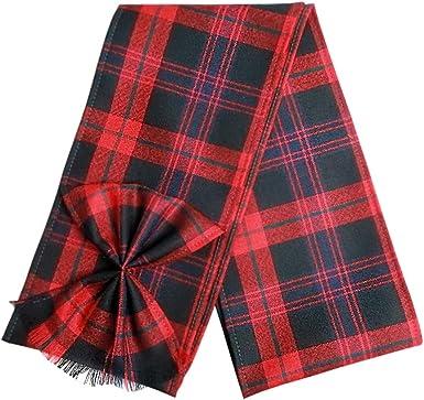 MacKenzie Scottish 100/% Wool Tartan Ladies Mini Sash with Rosette