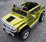 rideONEcar-HUMMER-STYLE-JJ-255-B-RIDE-ON-TOY-CAR-BATTERY-OPERATED-REMOTE-CONTROL-GREEN