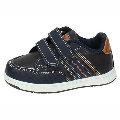 DEMAX Chaussures de Sport Garçon - Bleu - Bleu Marine, 25 EU