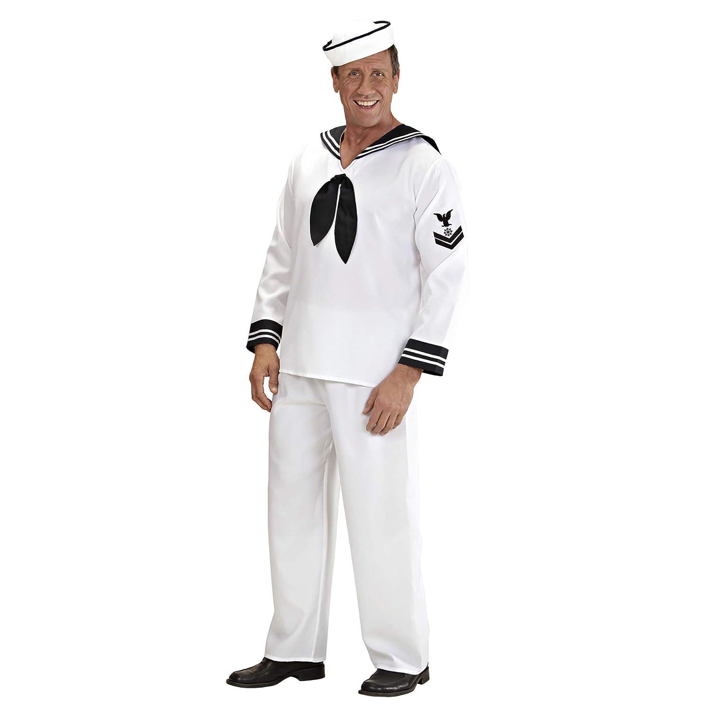 WIDMANN Widman - Disfraz de marinero navy para hombre, talla M ...