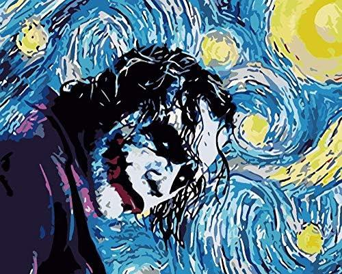 油絵 数字キットによる絵画 塗り絵 抽象的なピエロ 大人 手塗り DIY絵 デジタル油絵40X50cm (フレームなし)