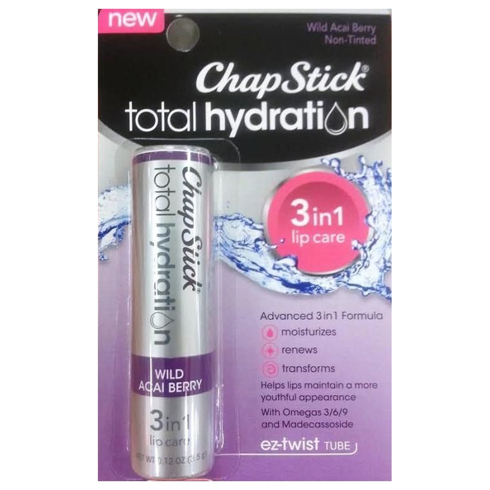 ChapStick Total Hydration 3-in-1 Lip Care - Wild Acai Berry