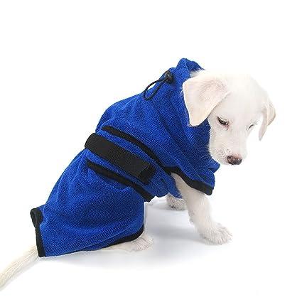 PETCUTE Albornoz para Perro Toalla para Perro de Secado Rápido Toalla Absorbente para Perro Pequeña Mediana