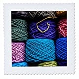 Danita Delimont - Markets - Chile, Los Lagos, Puerto Montt, Angelmo harbor market, dyed yarn. - 8x8 inch quilt square (qs_210015_3)