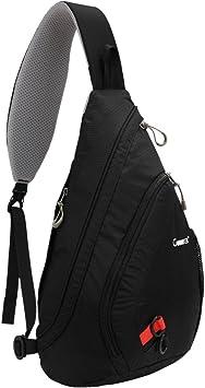 Impermeable Mochilas bandolera para hombres, sunseaton pecho bolsa para Camping Gimnasio Ciclismo bicicleta bolsa de hombro pequeña