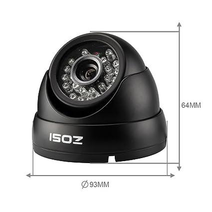 ZOSI 8CH H.264 grabador DVR de vídeo con cámara HD 1000TVL 4pcs-Cámara de tipo domo para exterior e interior, cámara impermeable cámara IR 24Leds distancia ...