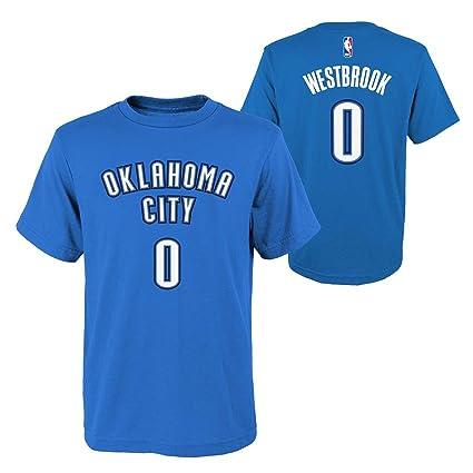 Oklahoma City Thunder NBA Russell Westbrook Youth Flat Basic Name   Number  Tee (Royal) 49b784ff0