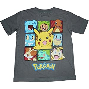 fda7cb87 Amazon.com: Pokemon Big Boys Pokemon Ball Short Sleeve Tee, Silver ...