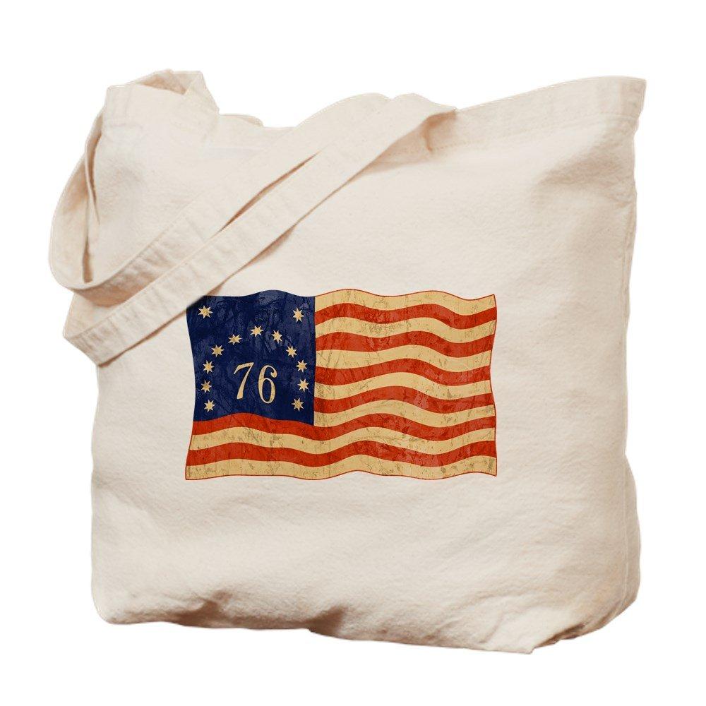CafePress – レトロ1776 American Flag – ナチュラルキャンバストートバッグ、布ショッピングバッグ B01HXADHIQ