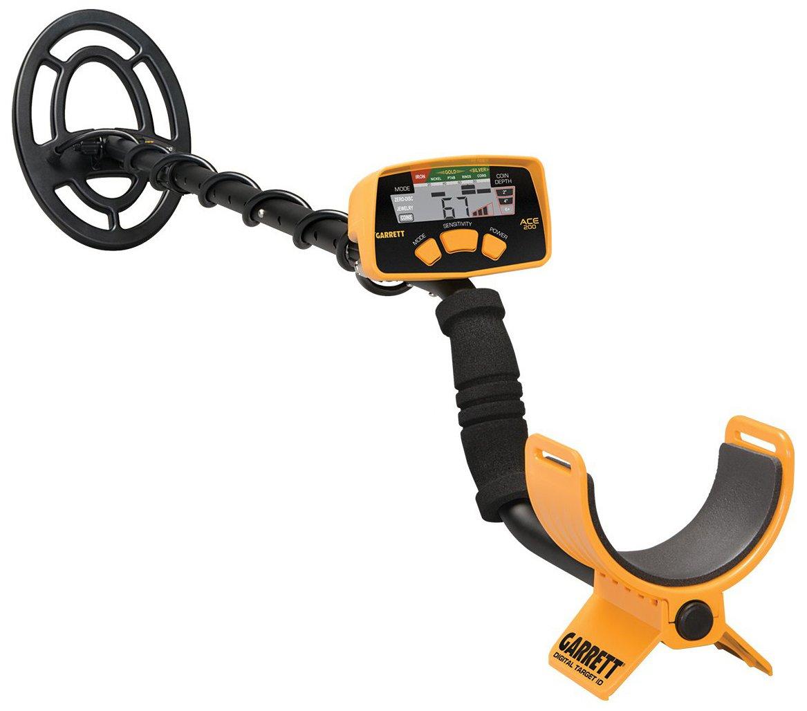 Garrett ACE 200 Metal Detector with Waterproof Search Coil and Headphones by Garrett