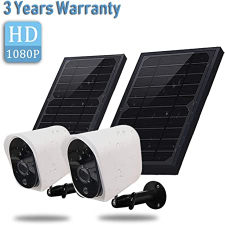 side facing raceTek wireless solar cameras