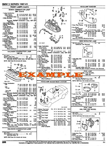 1989 - 1991 PEUGEOT 405 PART NUMBERS, LABOR & PRICE ILLUSTRATED SHEETS