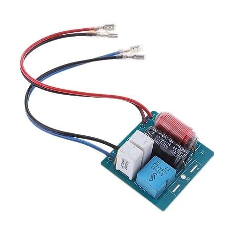 Sharplace DIY 60w 2 vías Filtro de Audio Altavoz Divisor de frecuencia Alta/Baja