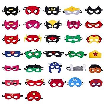 WOWOSS 32Pcs Máscaras de Superhéroe Artículos para Fiestas ...