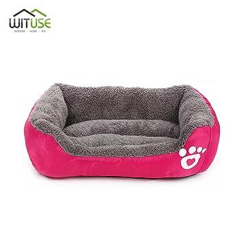 YCDC - Cama Cuadrada cálida para Mascotas, Perros, Gatos, para Interior y casa
