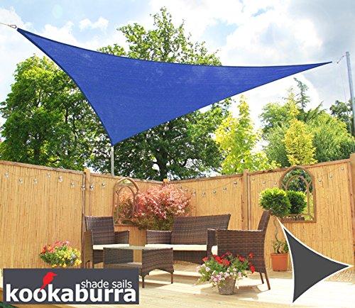 クッカバラ 青色 通気性日除けパーティシェードセイル(ニット織) - 紫外線90%カット - OL4000LS (5.4m正方形) B012OX4FT2 12350 5.4m正方形  5.4m正方形