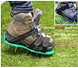 Ohuhu Lawn Aerator Spike Shoes, Aerating Lawn