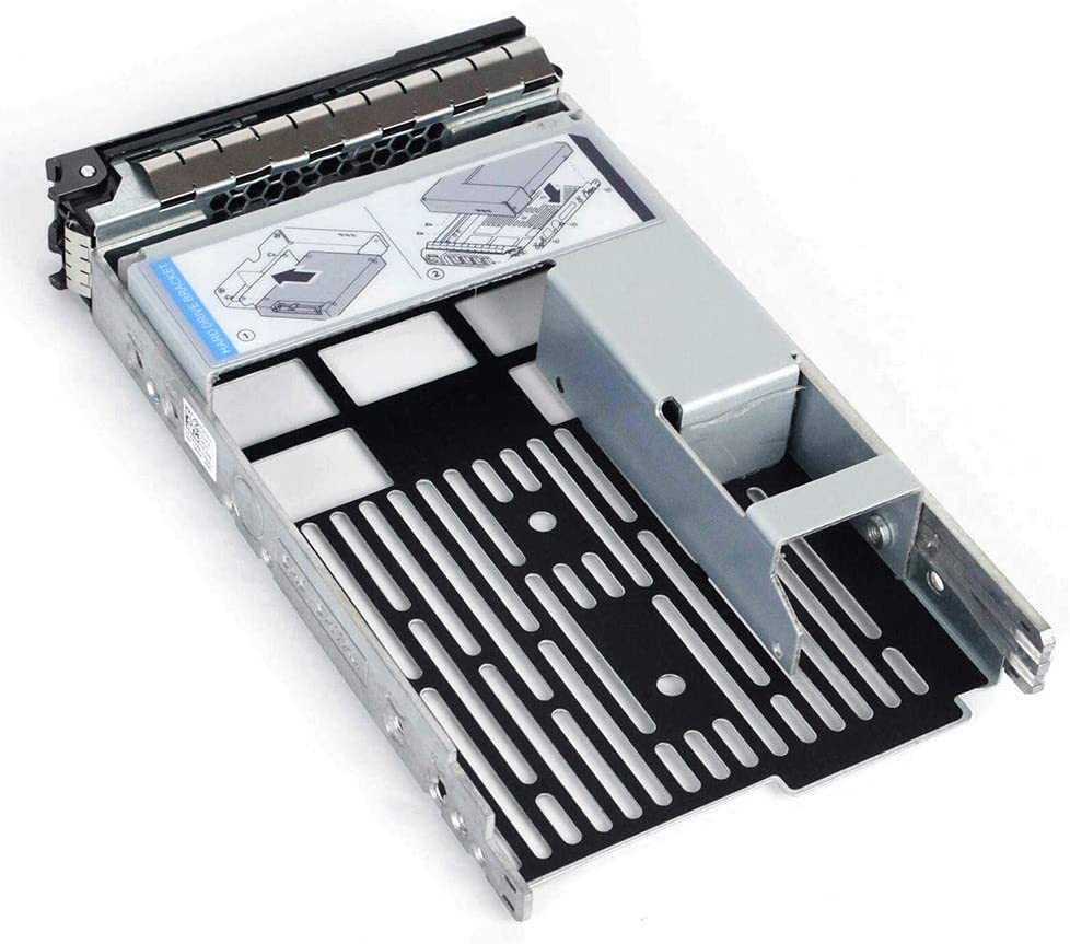 "3.5 inch Hard Drive Tray Caddy with 2.5"" HDD Adapter SSD SAS SATA Bracket Compatibility for DELL PowerEdge Servers 13th Generation R230, R330, T330, R430, T430, 12th Generation R320, T320, R420"