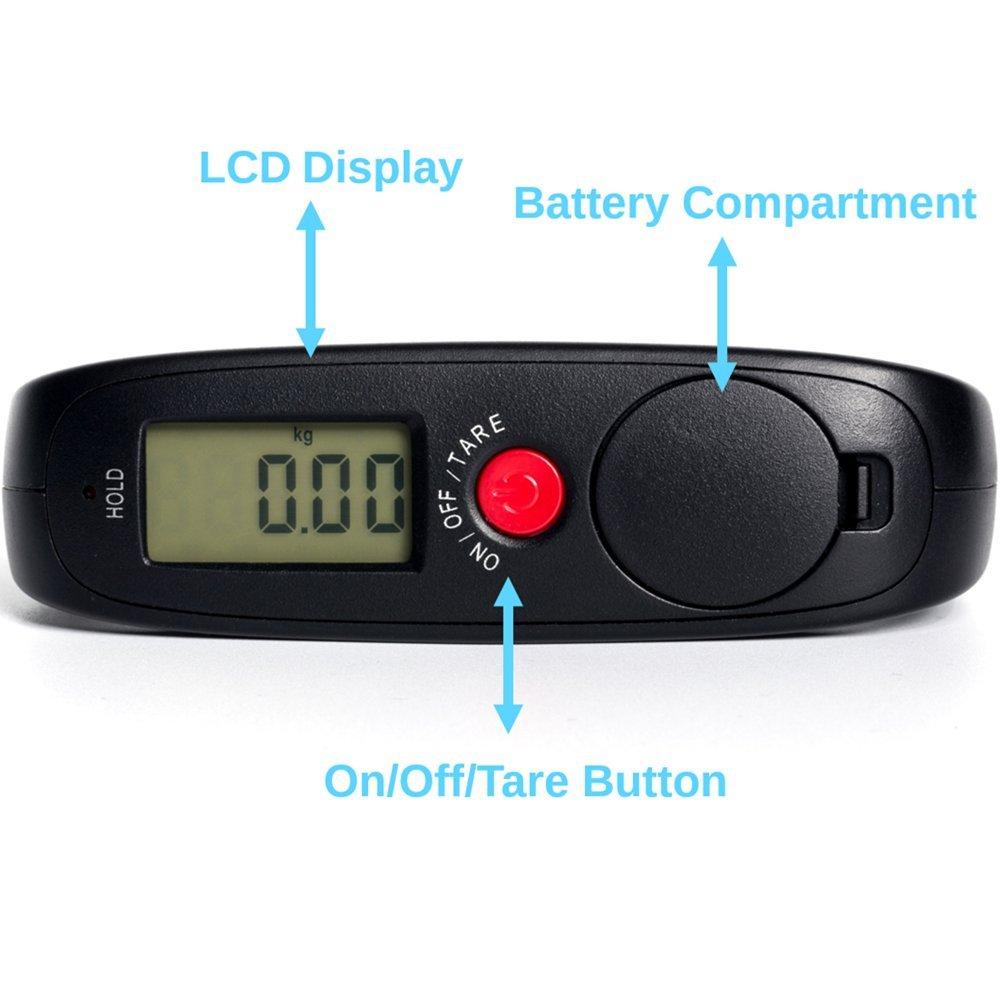 InnoBeta Balanza Ergonómica LCD Báscula, Báscula de Equipaje, Báscula Pesca Digital, Báscula electrónica: Amazon.es: Equipaje