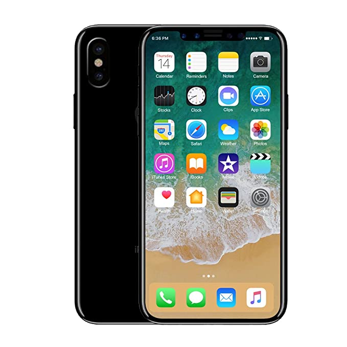 DDAWEFRT Fake Phone Dummy Phone Model Replica Non-Working X 5 8 inch Phone  10 1:1 Scale X-Space Grey
