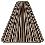 Skid-resistant Carpet Runner - Mocha Brown Stripe - 12 Ft. X 27 In. - Many Other Sizes to Choose From