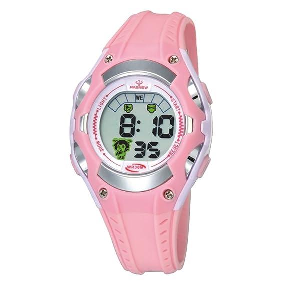 Forma electrónica para niños hombres y mujeres impermeable reloj deportivo corriendo los estudiantes de secundaria mirar