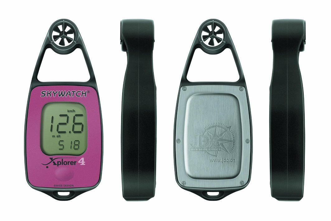 br/újula y bar/ómetro JDC Electronics Skywatch Xplorer 4 color rojo Medidor de temperatura y viento