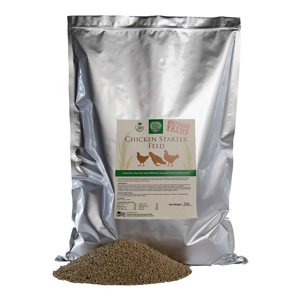 Small Pet Select Garden Goodness Starter Feed (Corn-Free/Soy-Free/Non-GMO), Green, 25 lb by Small Pet Select