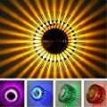 YJYdada Colorful RGB Sun Flower Wall Lamp Surface Install LED Light Luminaire Lighting